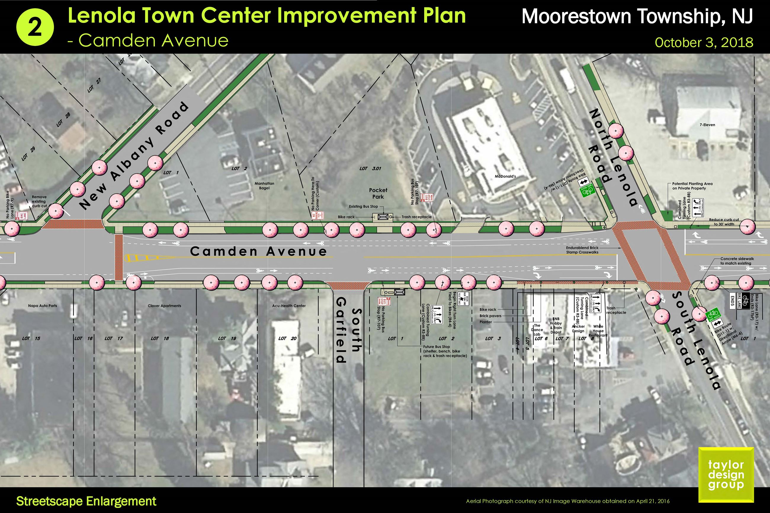 2 Streetscape Enlargement of the Concept Plan for the Lenola Town Center Improvement Plan.